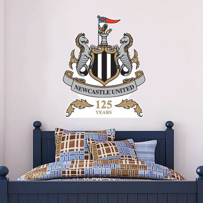 Newcastle United Football Club 125th Anniversary Crest Wall Sticker Art (Ltd Edition)