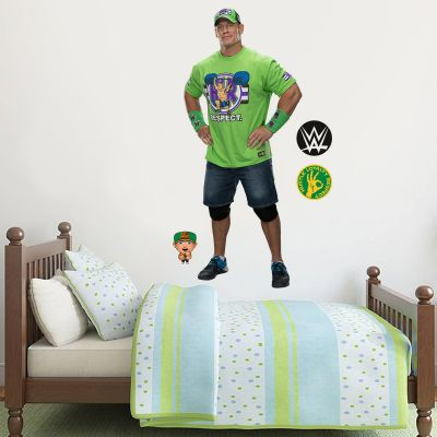WWE - John Cena Wrestler Decal 1 + Bonus Wall Sticker Set