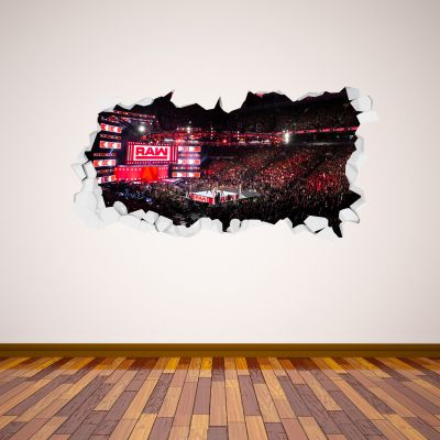 WWE - Raw Arena Smashed Wall Sticker