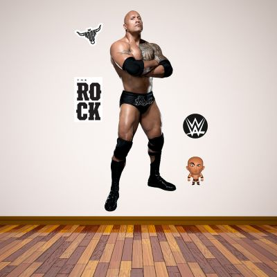 WWE - The Rock Wrestler Decal 3 + Bonus Wall Sticker Set