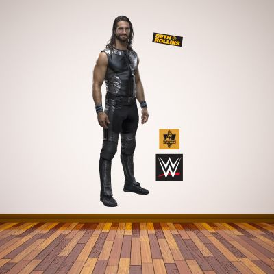 WWE - Seth Rollins Wrestler Decal 1 + Bonus Wall Sticker Set
