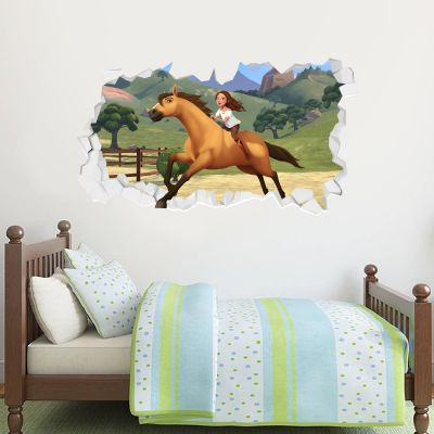 Spirit Riding Free - Lucky & Spirit Broken Wall Sticker