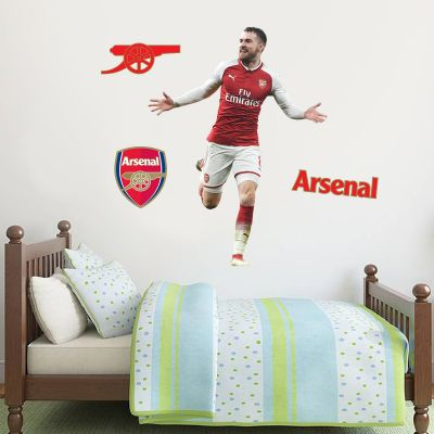 Arsenal FC - Aaron Ramsey Player Decal + Gunners Wall Sticker Set