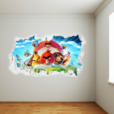 Angry Birds Smashed Wall Sticker Mural