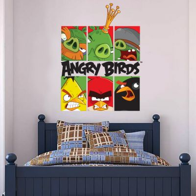 Angry Birds Characters and Logo Wall Sticker