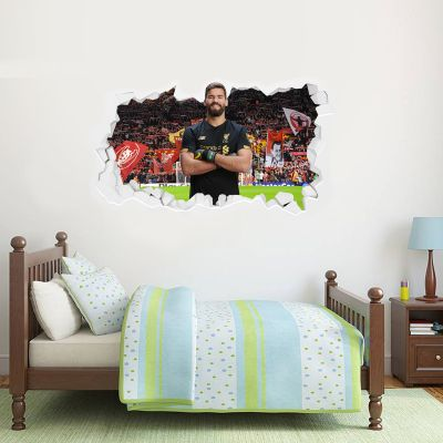 Liverpool Football Club Allison Smashed Wall Mural + Badge Decal Set