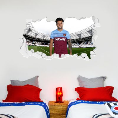West Ham United Football Club - Felipe Anderson Smashed Wall Mural + Hammers Wall Sticker Set