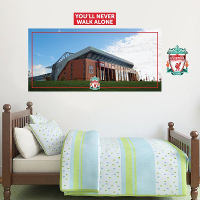Liverpool Football Club - Anfield Stadium Mural + LFC Wall Sticker Set