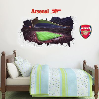 Arsenal Football Club - Smashed Emirates Stadium Inside Match Day View + Gunners Wall Sticker Set