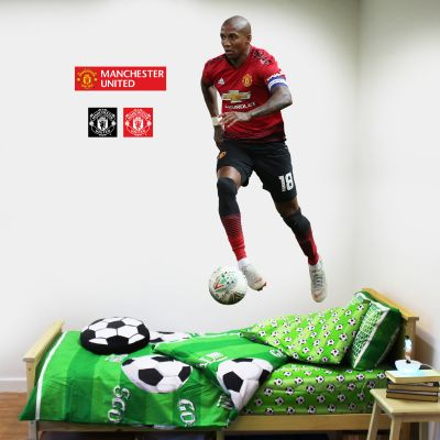 Manchester United F.C. - Ashley Young Running Player Decal + Bonus Wall Sticker Set