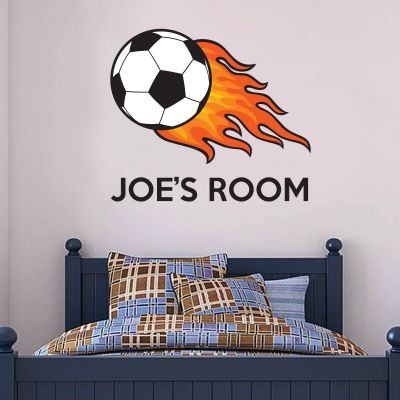 Football & Name Wall Sticker