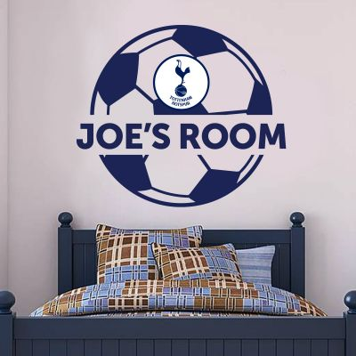 Tottenham Hotspur Football Club Personalised Ball & Name Wall Decal  & Spurs Wall Sticker Set