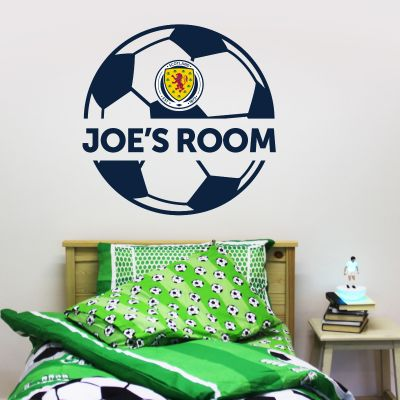 Scotland National Team - Personalised Name & Ball Design Wall Sticker + Decal Set