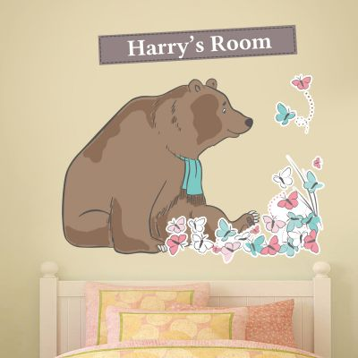 Bear Hunt & Butterflies Personalised Wall Sticker