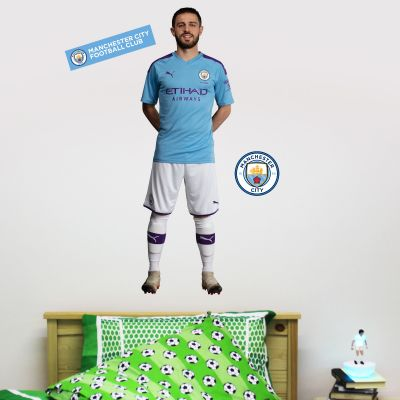 Manchester City FC - Bernardo Silva 2019 Player Decal + Wall Sticker Set
