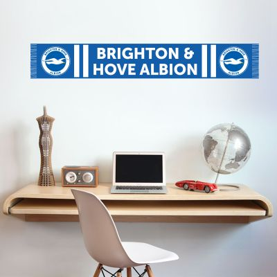 Brighton & Hove Albion Football Club - Scarf + Brighton & Hove Albion Crest Set