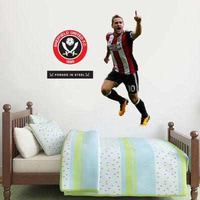 Sheffield United F.C. - Billy Sharp Player Decal + Blades Wall Sticker Set