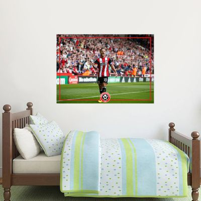 Sheffield United F.C. - Billy Sharp Goal Celebration Player Decal + Blades Wall Sticker Set
