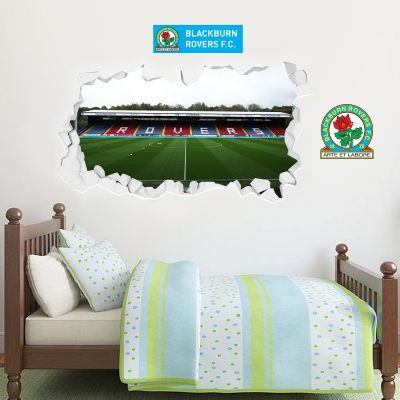 Blackburn Rovers Football Club Ewood Park Stadium Wall Smash Mural Sticker