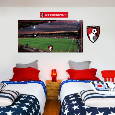 A.F.C Bournemouth - Vitality Stadium Wall Mural + Cherries Wall Sticker Set