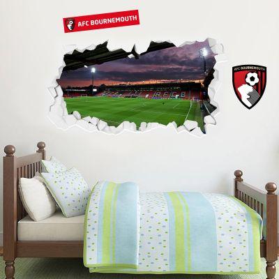 A.F.C Bournemouth Vitality Stadium Smashed Wall Mural + Cherries Wall Sticker Set