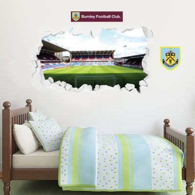 Burnley Football Club - Smashed Turf Moor Stadium Wall Art + Clarets Wall Sticker Set