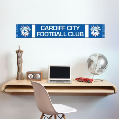Cardiff City Football Club Bar Scarf Wall Sticker