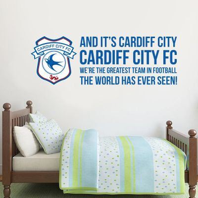 Cardiff City FC - 'Greatest Team' Song Wall Sticker