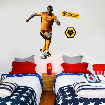 Wolves F.C. - Ivan Cavaleiro Player Decal + Wolves Wall Sticker Set