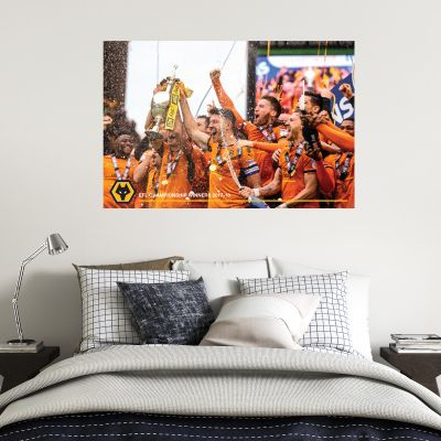 Wolves F.C. - EFL Champions Celebration Wall Art 2 + Wolves Wall Sticker Set