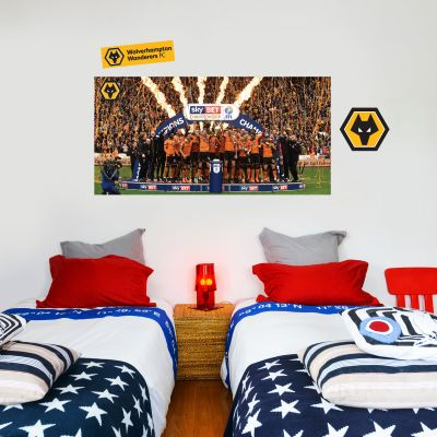 Wolves F.C. - EFL Champions Celebrations Wall Art 1 + Wolves Wall Sticker Set