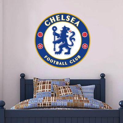 Chelsea Football Club - Blues Crest Wall Mural + Wall Sticker Set