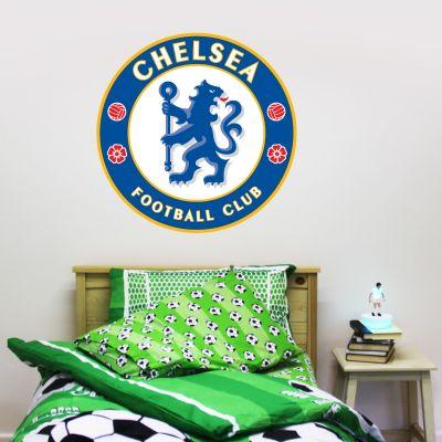 Chelsea Football Club - Blues Crest Wall Mural + Wall Sticker Set