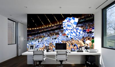 Chelsea FC - Stamford Bridge Stadium Full Wall Mural - Crowd & Flags