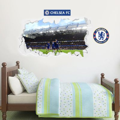 Chelsea Football Club - Smashed Team Goal Celebration Wall Mural + Blues Wall Sticker Set