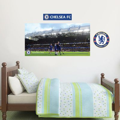 Chelsea Football Club - Team Goal Celebration Wall Mural + Blues Wall Sticker Set