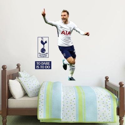 Tottenham Hotspur FC - Christian Eriksen Goal Celebration Wall Mural + Spurs Wall Sticker Set