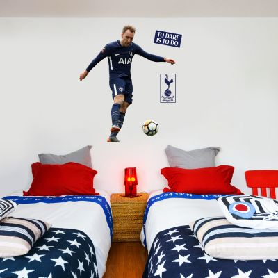 Tottenham Hotspur FC - Christian Eriksen Shooting Wall Mural + Spurs Wall Sticker Set