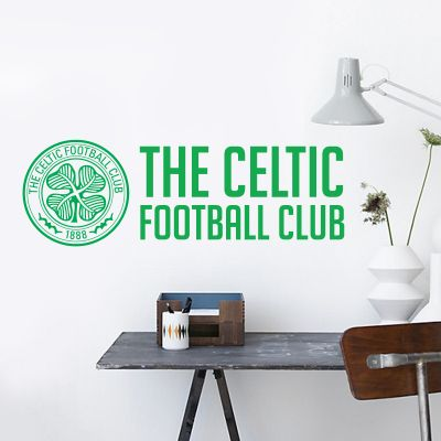 Celtic Football Club - Crest & Club Name Wall Sticker
