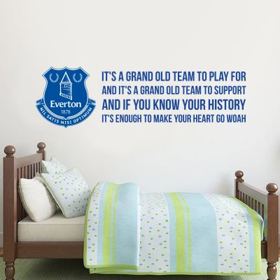 Everton Football Club - 'Grand Old Team' Song & Crest Design + Toffees Wall Sticker Set