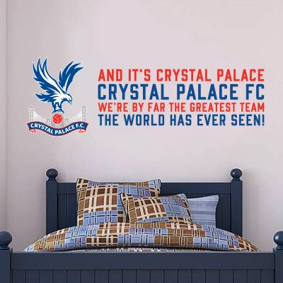 Crystal Palace F.C. Crest & 'Greatest Team' Song Wall Sticker