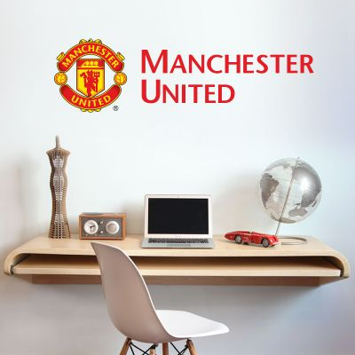 Manchester United F.C. - Crest and Club Name Wall Sticker