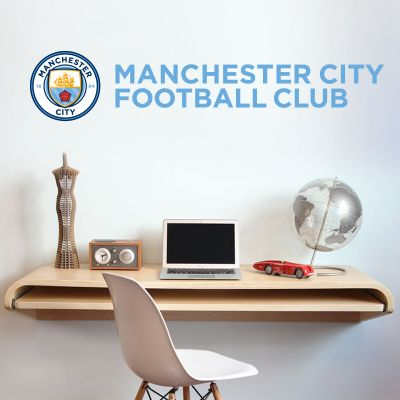 Manchester City Football Club - Crest & Club Name Wall Decal