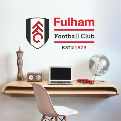 Fulham Football Club Crest & Name Design Wall Sticker