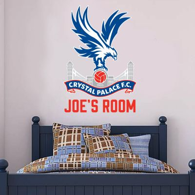 Crystal Palace F.C. Personalised Name & Crest Wall Sticker