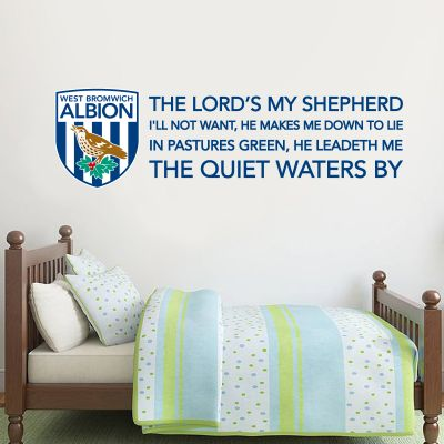 West Bromwich Albion Football Club 'Lords's My Shepard' Song & Crest Wall Sticker Vinyl