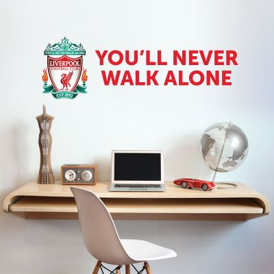 Liverpool Football Club Crest 'You'll Never Walk Alone' Wall Decal & LFC Wall Sticker Set