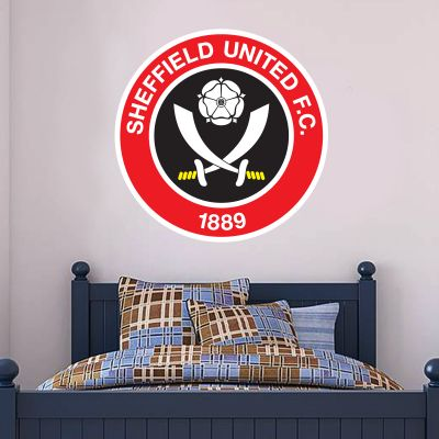 Sheffield United F.C. - Crest + Blades Wall Sticker Set
