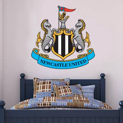 Newcastle United Football Club - Crest Mural + Toons Wall Sticker Set