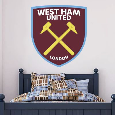 West Ham United Football Club - Hammers Crest + Wall Sticker Set